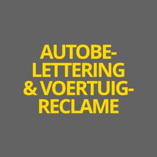 Autobelettering-voertuigreclame